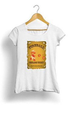 Camiseta Feminina Tropicalli Fireball Mario