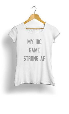 Camiseta Feminina Tropicalli Funny Saying - I really don't care
