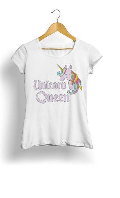 Camiseta Feminina Tropicalli Unicorn Queen