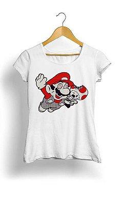 Camiseta Feminina Tropicalli Mario eat Toad