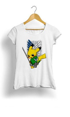 Camiseta Feminina Tropicalli Shingeki No Pika