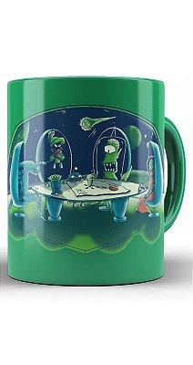Caneca Futurama - Aliens