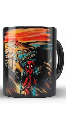 Caneca Marvel Monalisa Deadpool