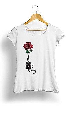 Camiseta Feminina Tropicalli Gun & Roses
