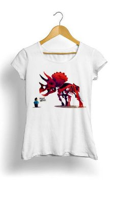 Camiseta Feminina Tropicalli Pet Dinosaur