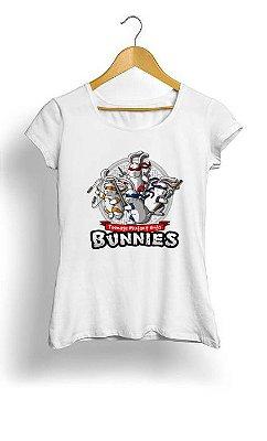 Camiseta Feminina Tropicalli Ninja Bunnies