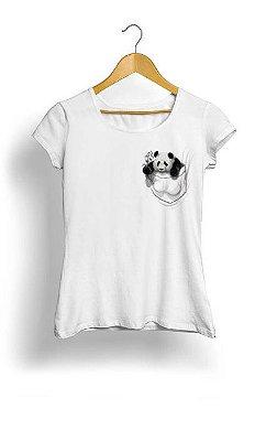 Camiseta Feminina Tropicalli Pocket Panda