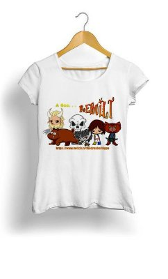 Camiseta Feminina Tropicalli A God Rebuilt Chibis