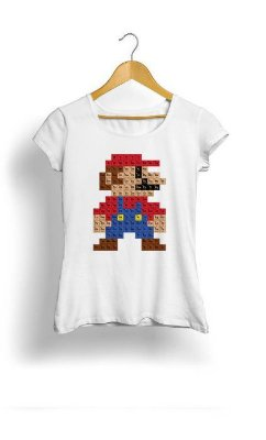 Camiseta Feminina Tropicalli Super mario