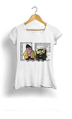 Camiseta Feminina Tropicalli Bob e Patrik