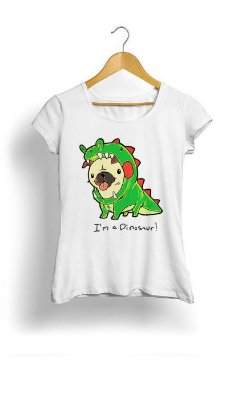 Camiseta Feminina Tropicalli Pug