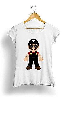 Camiseta Feminina Tropicalli Mario Rock