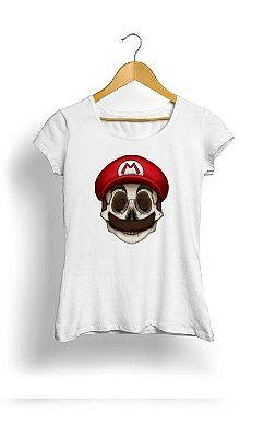 Camiseta Feminina Tropicalli Mario skull