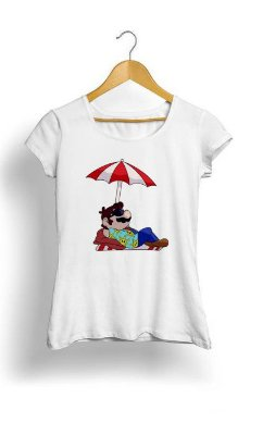 Camiseta Feminina Tropicalli Sunshine Mario
