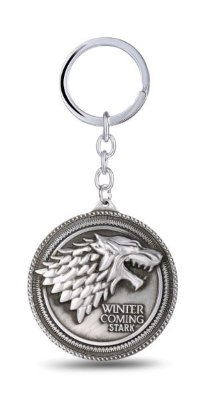 Chaveiro Game of Thrones Escudo Moeda de Metal Presentes Criativos​