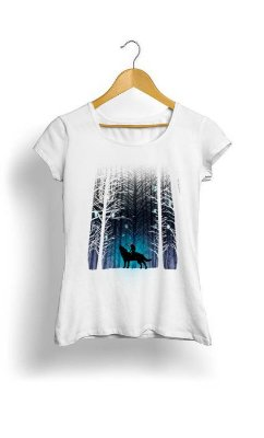 Camiseta Feminina Tropicalli Girl in the snow