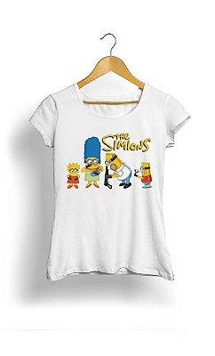 Camiseta Feminina Tropicalli Simpsons