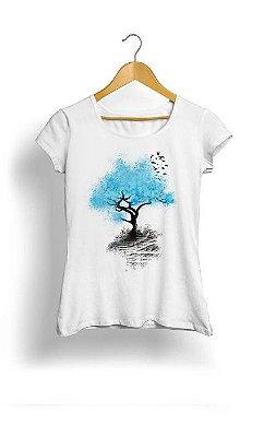 Camiseta Feminina Tropicalli Blue Tree