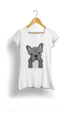 Camiseta Feminina Tropicalli Dog grey