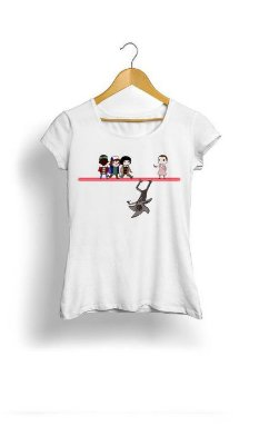 Camiseta Feminina Tropicalli Stranger Things Group