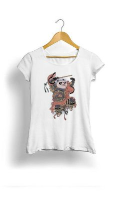 Camiseta Feminina Tropicalli Panda Ninja