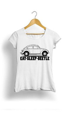 Camiseta Feminina Tropicalli Eat sleep beetle