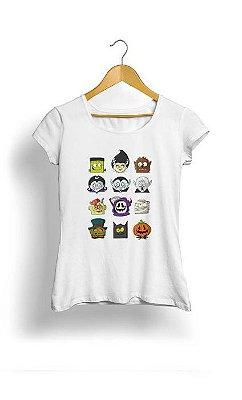 Camiseta Feminina Tropicalli Monsters heads
