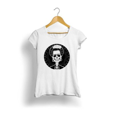 Camiseta Feminina Tropicalli Frida Skull