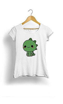 Camiseta Feminina Tropicalli Cute Dino