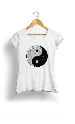 Camiseta Feminina Tropicalli Galaxy Yin-Yang Sign