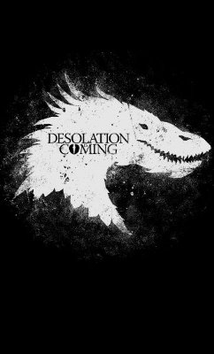 Camiseta Feminina Game of Thrones Desolation Coming