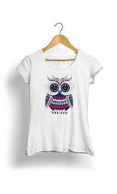 Camiseta Feminina Tropicalli Patriotic Owl