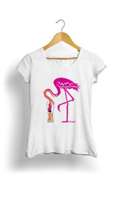 Camiseta Feminina Tropicalli Flamingo