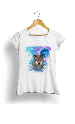 Camiseta Feminina Tropicalli  Wolf