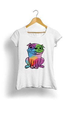 Camiseta Feminina Tropicalli Sapo dog