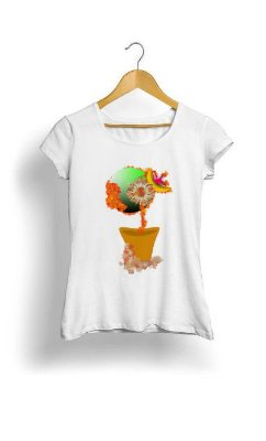 Camiseta Feminina Tropicalli daisy's space