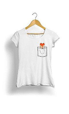 Camiseta Feminina Tropicalli Fox bolço