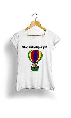 Camiseta Feminina Tropicalli Whatever floats your goalt