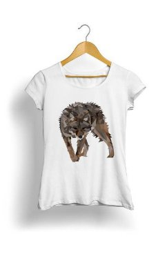 Camiseta Feminina Tropicalli  Poly Wolfie