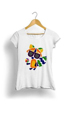 Camiseta Feminina Tropicalli Fox Abstract