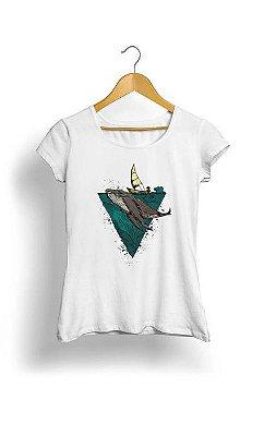 Camiseta Feminina Tropicalli Whale geometric