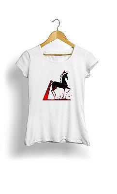 Camiseta Feminina Tropicalli Red Horse