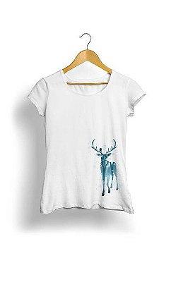 Camiseta Feminina Tropicalli Winter Deer