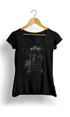Camiseta Feminina Doctor Who Space