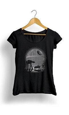 Camiseta Feminina Star Wars Robots
