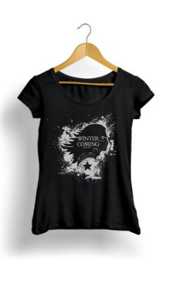 Camiseta Feminina Winter Coming