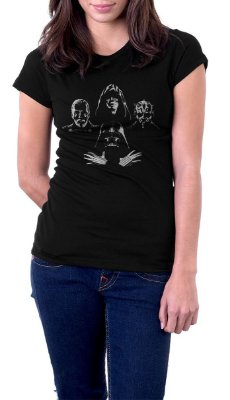 Camiseta Feminina Star Wars Darth Vader Zombies