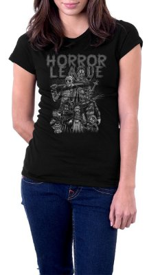 Camiseta Feminina Jason Horror League