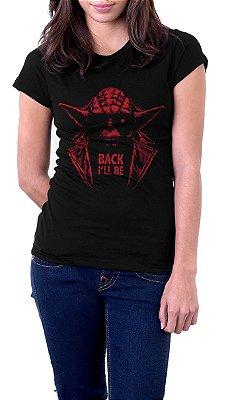Camiseta Feminina Star Wars Yoda Back I'll Be