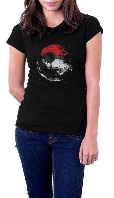 Camiseta Feminina Pokemon Poké Ball